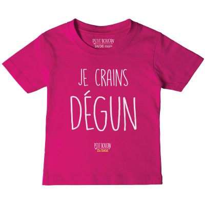 "T-shirt ""Je crains degun"""