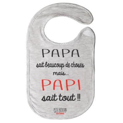 """Bavoir """"Papi"""""""